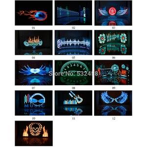 Image 2 - Auto Voorruit Led Equalizer Auto Neon El Licht Muziek Rhythm Flash Lamp Sticker Styling Met Control Box