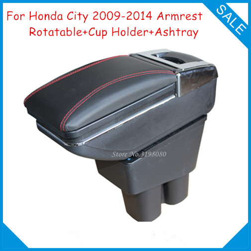 US 53 1 10 OFF FREE SHIPPING CAR ARMREST FOR HONDA CITY 2009 2014 Car Accessories Parts Console Box Center Arm Rest With Cup Holder And Ashtray In