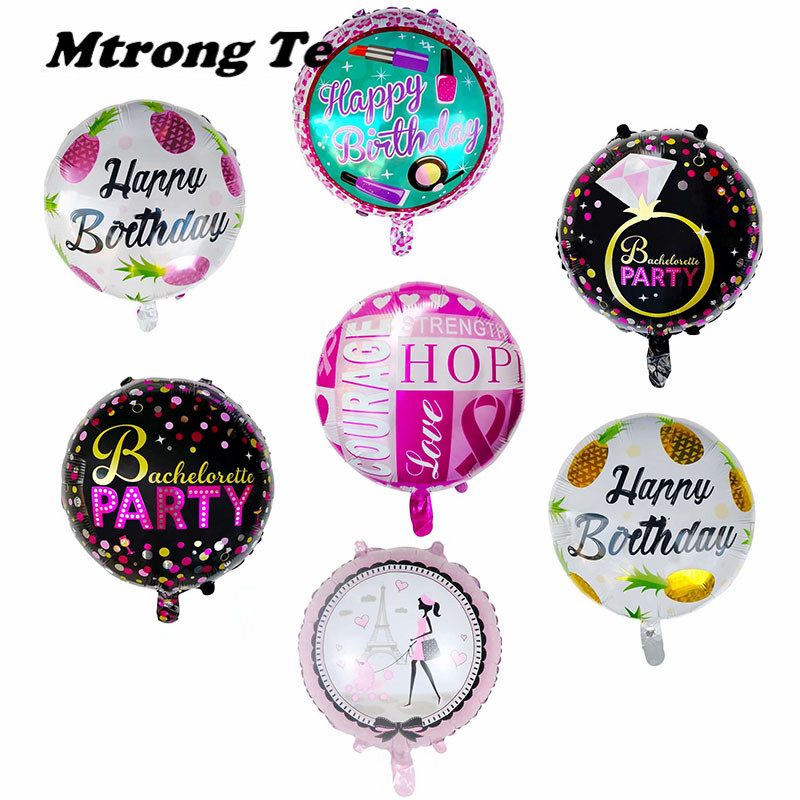 11pcs Big Rainbow Star Round Helium Foil Balloons Baby Shower Boy Girl Birthday Party Decor Child Gifts Globos Toys Supplies Home & Garden
