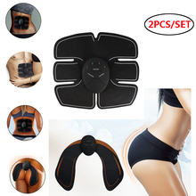2PCS/Lot Abdominal Muscle Stimulator EMS Hip Trainer Abdomen Vibration Fitness Massager Ems-trainer Home Body Slimming Machine