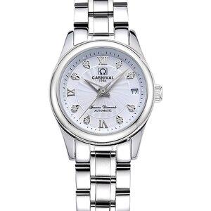 Image 4 - Carnival Women Watches Luxury Brand ladies Automatic Mechanical Watch Women Sapphire Waterproof relogio feminino C 8830 4