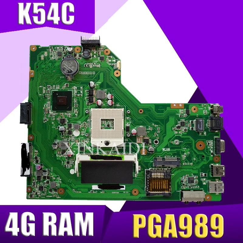 XinKaidi  K54C Laptop motherboard for ASUS K54C X54C K54 Test original mainboard 4G RAM PGA989XinKaidi  K54C Laptop motherboard for ASUS K54C X54C K54 Test original mainboard 4G RAM PGA989