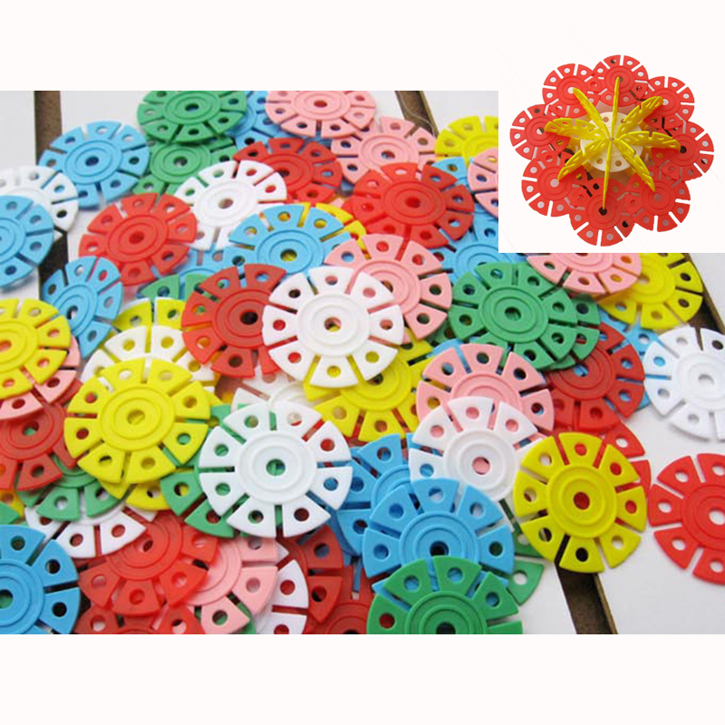 150Pcs Snow Snowflake Building Blocks Toy Baby Children Educational Toy DIY Assembling Bricks Gift Kids Classic Toys enlighten 325pcs set riot tracking car model building blocks toys for kids children educational assembling blocks diy bricks toy