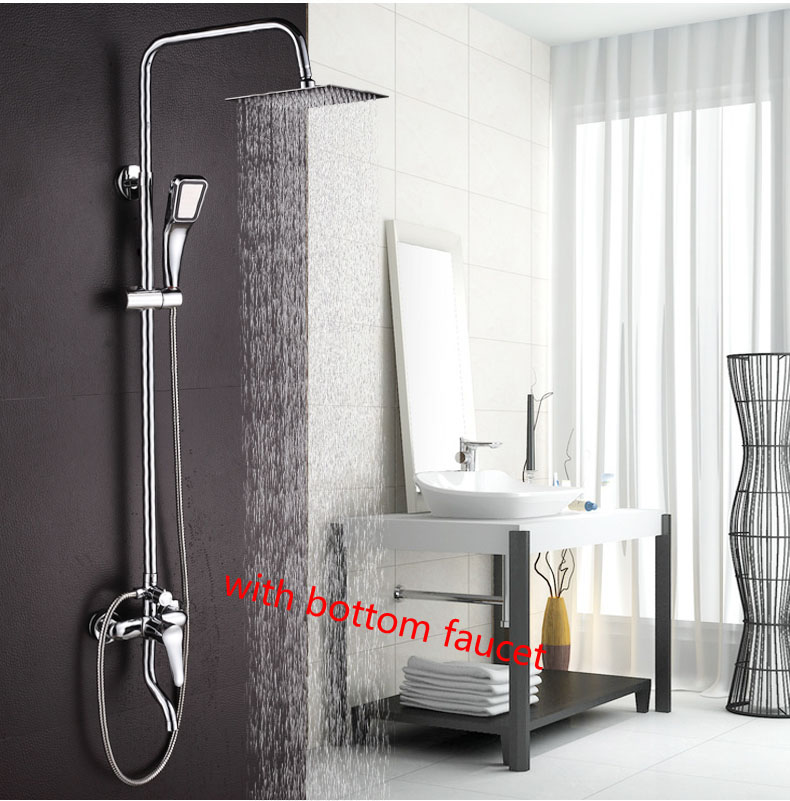 dofaso brand good price china rain waterfall shower set faucet wall mounted with abs handshower with