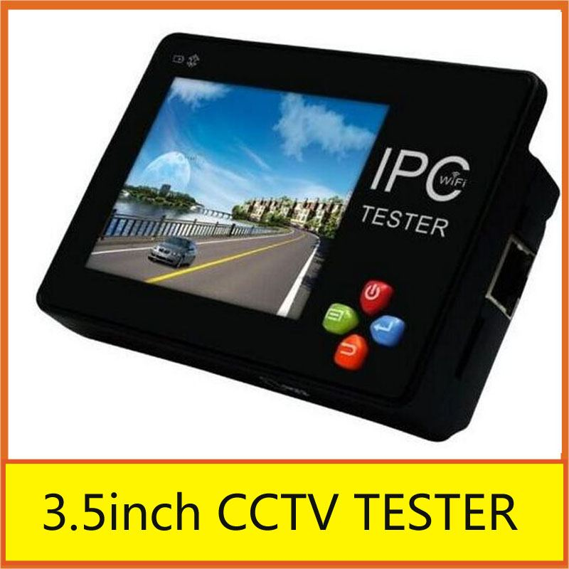 Wrist IP Camera Tester/ Touch Screen 3.5 IP CCTV Tester Monitor Analog Camera WIFI PTZ 12V1A RJ45 IPC-1600 Onvif Tester Monitor