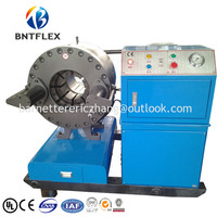2017 BARNETT BNT91F best sell hose crimper price/hydraulic hose crimping machine italy
