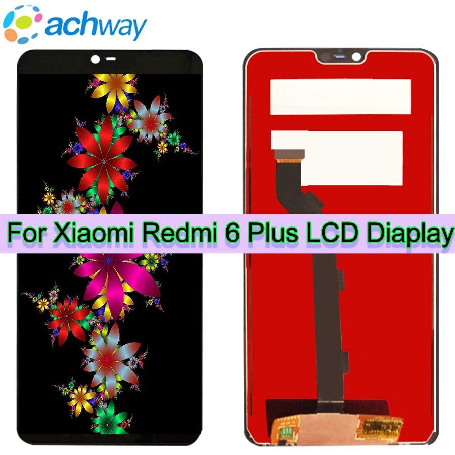 Noir D'origine LCD Xiaomi Redmi 6 Plus LCD Affichage à L'écran Tactile Digitizer Assemblée Redmi 6 Plus Remplacement Redmi 6 Plus LCD