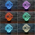abstract Creative 3D Night Light Acrylic Colorful Gradient LED Desk Table Light 3-dimension illusion Lamp