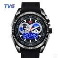 Top Brand TVG Men Watch Fashion LED Digital Pointer Quartz Watch Men 50m Waterproof Sport Rubber Watches Clock Relogio Masculino