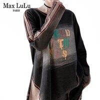 Max LuLu Autumn Clothes Fashion Korean Tops Tees Ladies Punk Streetwear Womens Denim Printed T Shirts Vintage Long Sleeve Tshirt