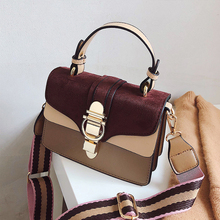 купить Bags for Women 2019 Fashion New Quality PU Leather Women bag Hit color Portable Shoulder Messenger Bag Travel Tote Crossbody bag по цене 914.73 рублей