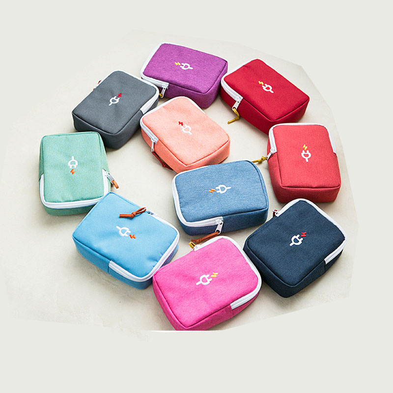 Embroidery Power Bank Bag Storage Carrying Box for iPad Mini iPhone For MacBook Air Pro Retina External Power Bank Case