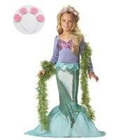 ازياء الأطفال لفتاة الاطفال هالوين كرنفال حزب ملابس الزي طفلة ليتل ميرميد عيد اللباس