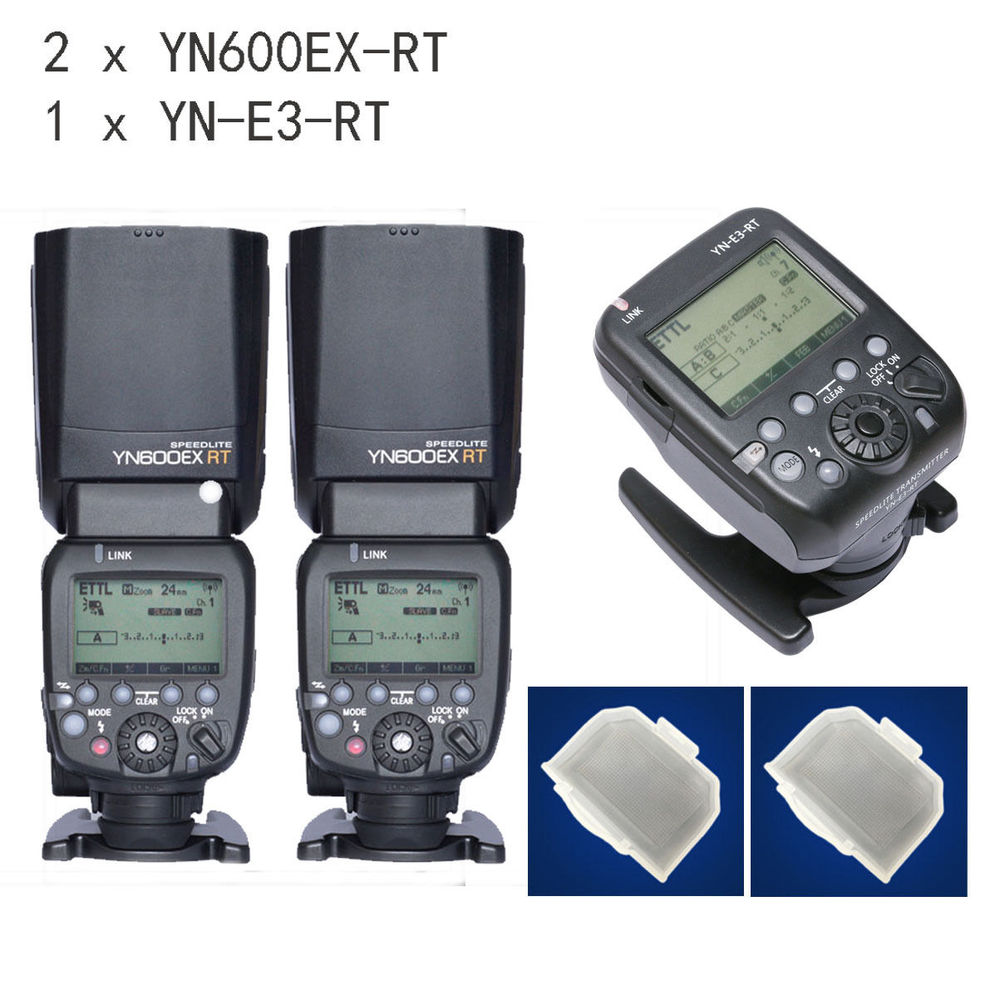 2pcs YONGNUO Flash Speedlite YN600EX-RT for Canon AS 600EX-RT + YN-E3-RT вспышка для фотокамеры 2xyongnuo yn600ex rt yn e3 rt speedlite canon rt st e3 rt 600ex rt 2xyn600ex rt yn e3 rt