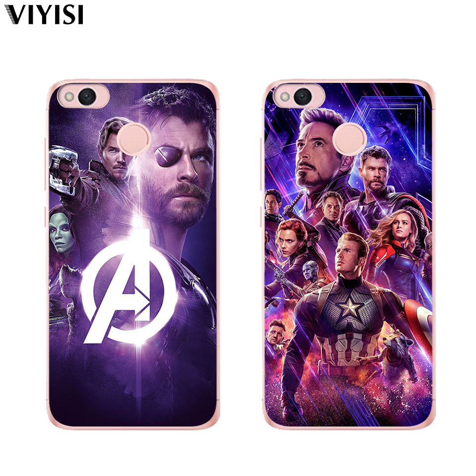 Case For Xiaomi Redmi mi 8 Mi 9 Note 5A 6 4 A2 Lite A1 4X 6 4 4A 5X Marvel Iron Man Black Widow Raytheon Soft silicone TPU Cases in Fitted Cases from Cellphones Telecommunications