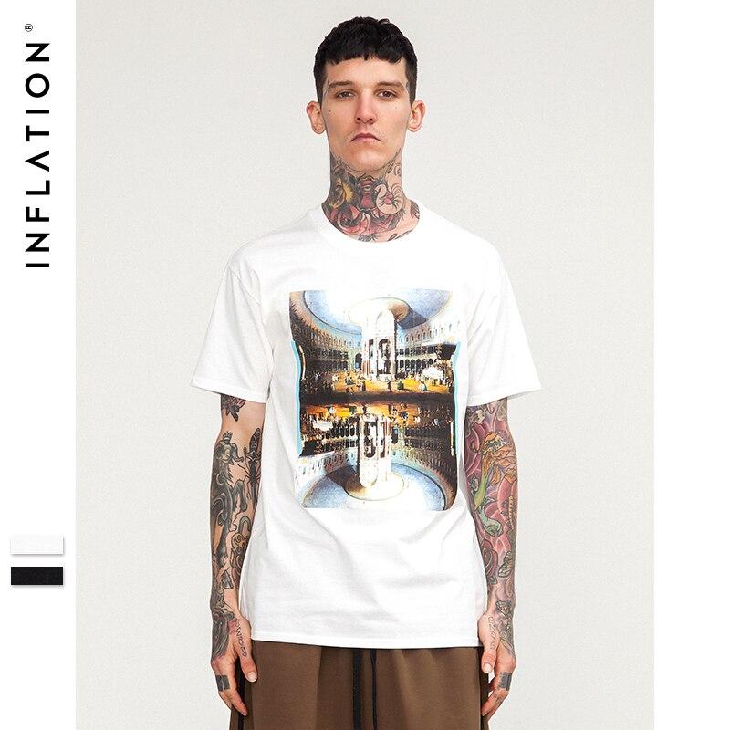 L'INFLATION 2018 Graphique imprimer Hommes Musique T Shirts En Coton À manches Courtes o-cou Tee-Shirt Hip hop Rap Hommes T-shirt D'été Style 8255 S