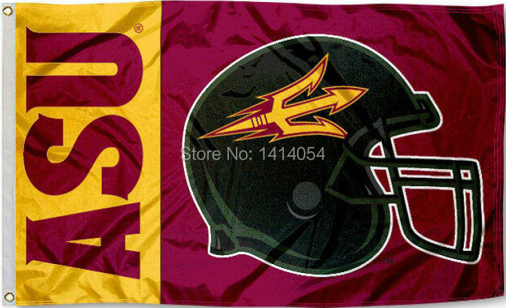 Arizona State College Football Flag 150X90CM NCAA 3X5FT Banner 100D Polyester grommets custom009, free shipping