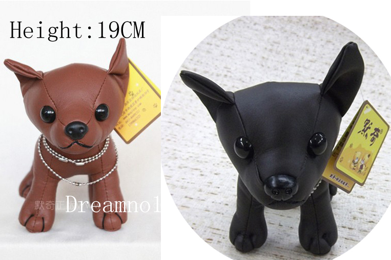 Wholesale Best Quality Pu Leather Stuffed Plush Chihuahua Dog Toy