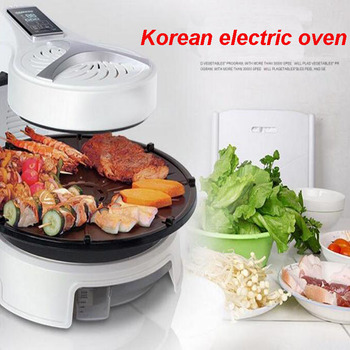 Electric Barbecue Pits Household Frying Oven Electric Roasting Pan Korean Grill Skillets Cooking Pot KQB-315 air frying pan new special price large capacity intelligent oil smoke free fries machine automatic electric frying pan 220v 3l