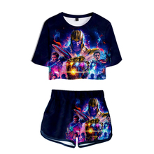 Avengers Endgame Quantum Realm Women Tops Tee Advanced Tech Pant Cosplay Costumes 2019 new superhero Iron Man T-shirt suit
