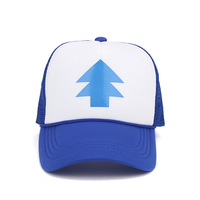 Unisex Women Men Curved Bill BLUE PINE TREE Dipper Gravity Falls Cartoon Mesh Hat Cap Trucker