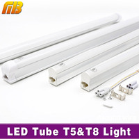 LED Tube T5 T8 Light 110V 220V AC85 265V 30 60cm 5W 10W PVC Plastic LED