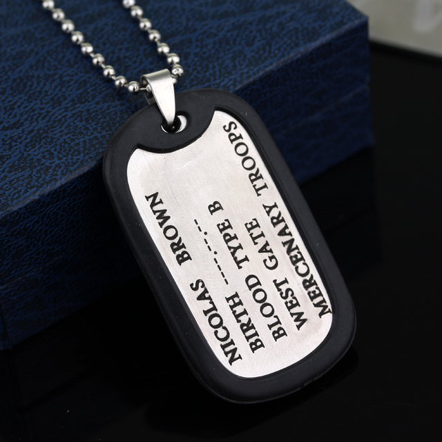 A/O Dog Tags Men's Pendants Necklaces 6