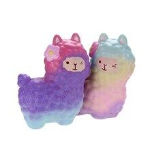 ФОТО vlampo 19cm cute alpaca squishy rainbow galaxy scented slow rising toys  retail 1 piece kawaii licensed original package