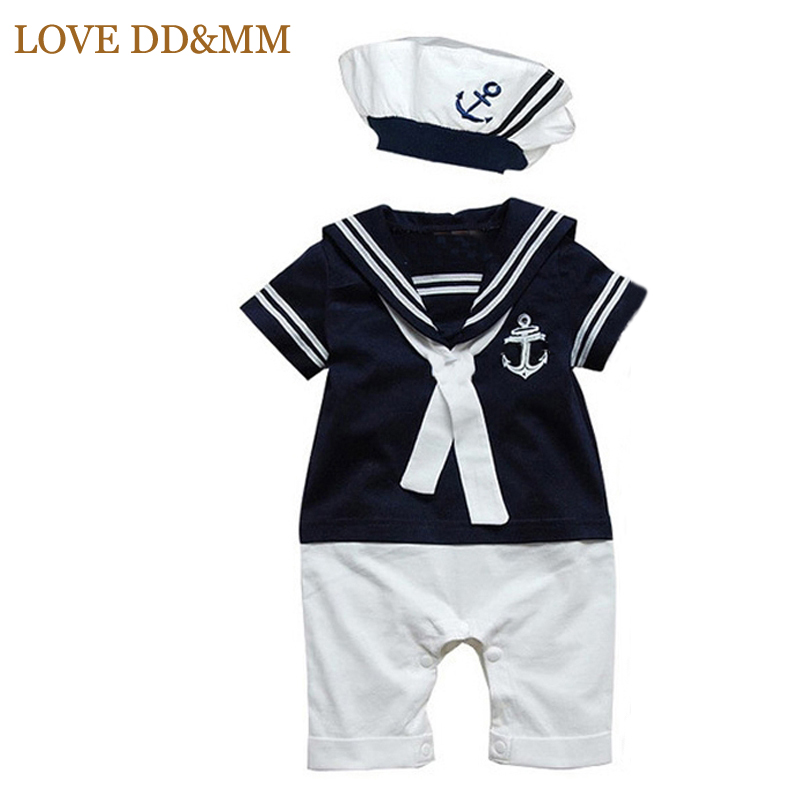 06c5a21fafeb LOVE DD MM Baby Rompers Newborn Navy Style Clothing Baby Boys ...