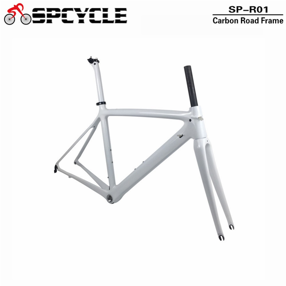 цены Spcycle T1000 Full Carbon Road Bike Frame 700C Road Bicycle Carbon Frame BSA 68mm OEM Racing Bicycle Frameset 50/53/55cm