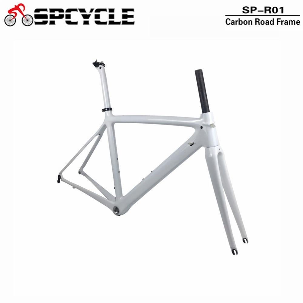цены Spcycle T1000 Full Carbon Road Bike Frame 700C Road Bicycle Carbon Frame BSA 68mm OEM Racing Bicycle Frameset 50/53/55cm