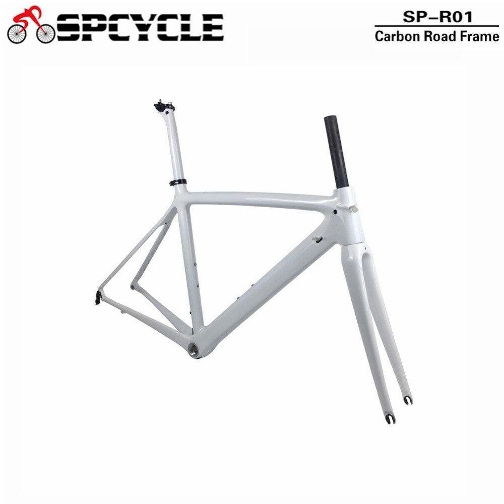 Spcycle T1000 Plein Carbone Cadre de Vélo De Route 700C Vélo De Route Cadre En Carbone BSA 68mm OEM Vélo De Course Cadre 50 /53/55 cm