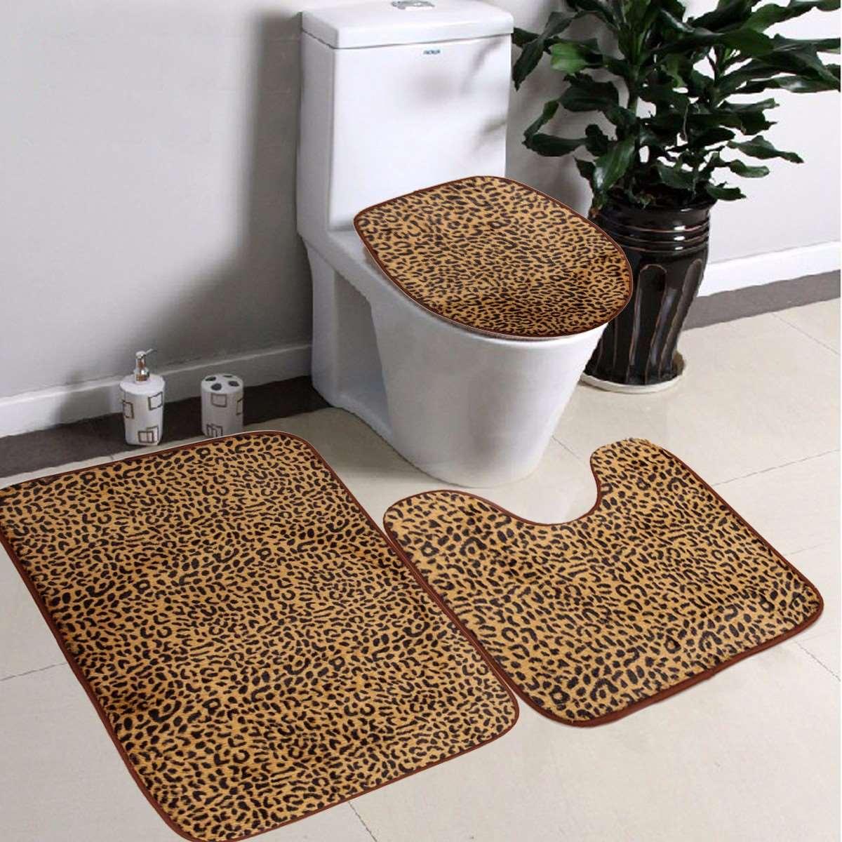 22pc bath accessories set pink zebra animal print bathroom rugs shower