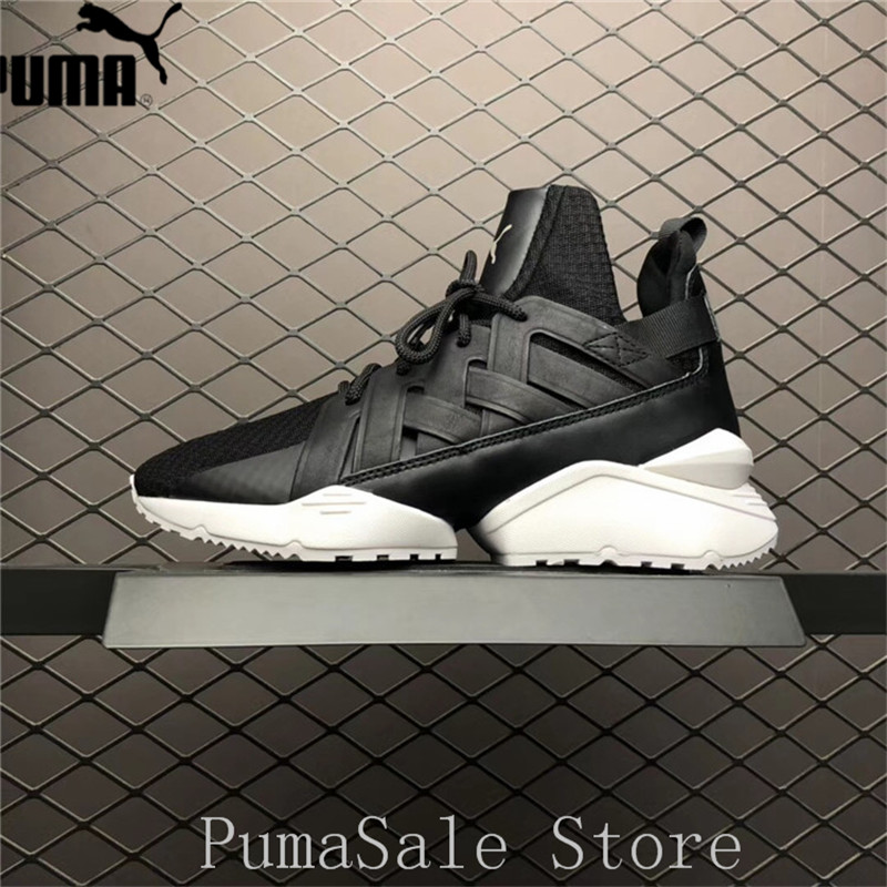 b15a1c84aba7 PUMA Women s Muse Echo Satin EP Sneakers Badminton Shoes 366450-02 Black  Color Sneakers High