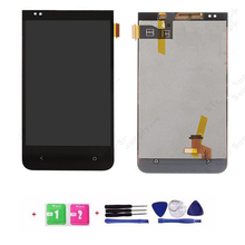 100% Test 1PC/Lot For HTC Desire 300 LCD Display With Touch Screen Digitizer Black Color Tools + Free Shipping