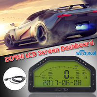D0908 LED Waterproof Dash Race Display Kits Bar/PSI KMH/MPH 9000RPM Universal For 12V Professional Racing Car Full Sensor