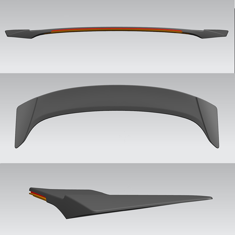 Voor Ford Mondeo/Fusion Auto Decoratie 2013 2014 2015 2016 2017 ABS Plastic Verf Schilderen Kleur Achter LED Spoiler - 4