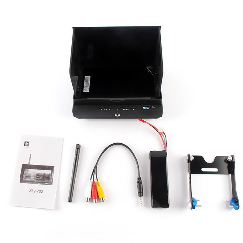 Original Cheerson CX-20 CX20 FPV Monitor Receiver RC Quadcopter 5.8GHz FPV Kit 7inch LCD Built-in Li-poli Battery CX 20 cx20 cheerson cx20 cx 20 cx 20 2 4g rc quadcopter 4 axis open source version auto pathfinder helicopter ufo support fpv