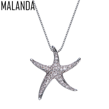 Buy swarovski starfish pendant and get free shipping on aliexpress malanda fashion crystal starfish pendant necklaces crystal from swarovski silver color necklaces for women office jewelry aloadofball Image collections