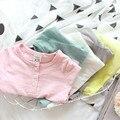 Дети дизайнер бренда дети 2017 мода осень конфеты цвет девушка футболки детские твердые девушка футболки детская одежда случайный т рубашки