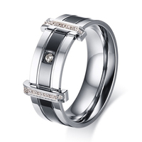 New Arrival Titanium Stainless Steel Finger Ring Silver Black Men S Party Jewelry Wedding Engagement Rings