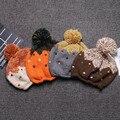 2017 winter new children's knitted hat cute cartoon warm hat fashion caddice hat outdoor children keep warm cap