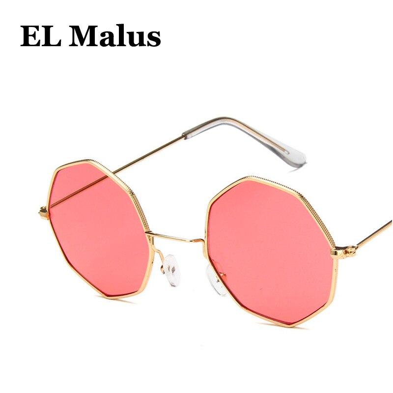 polygon Uv400 Sunglasses Sexy Ladies Women Retro Brand Designer Pink Yellow Lens Mirror Sun Glasses Female Reflective Straightforward el Malus
