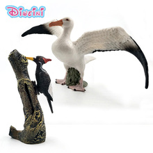 Cute Simulation Seagull bird Woodpecker Artificial animal model Action figure plastic Decoration educational toy Gift For Kids new zealand national bird artificial animal model about kiwi bird toy fur