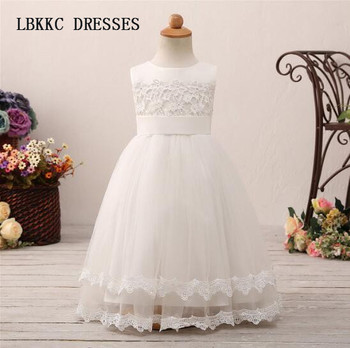 b01b4b6a12b Белый цветок платье для барбекю Тюль с кружевом платья вечерние ...