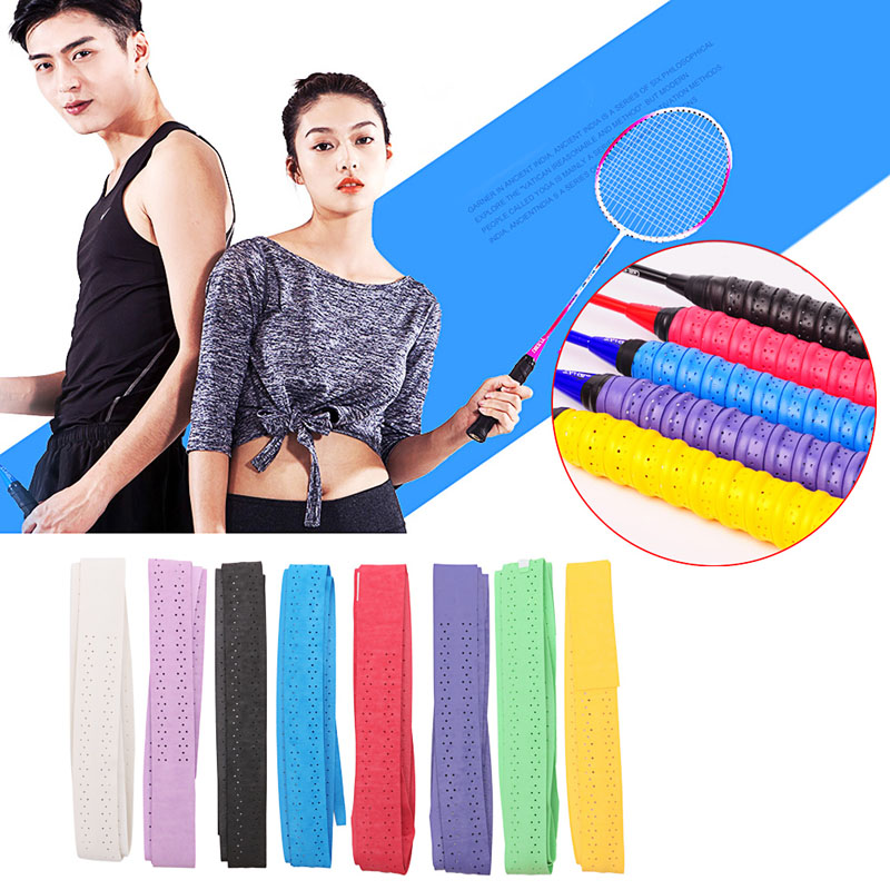 10pcs/lot Anti-Slip Sweat Band Tennis Badminton Grip Overgrips Tape Badminton Racket Grips Sweatband High Quality Discount Price