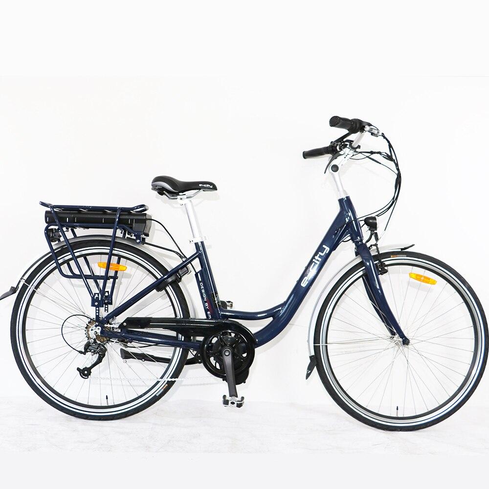 Городской Электрический Дорожный велосипед, электронной велосипед для женщин, отличное качество, 7 скоростей, 700С*40С, Бафан мотор ebike алюминий Рамка сплава