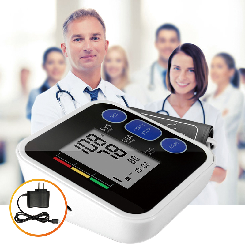 Cigii Upper Arm blood pressure Pulse monitor LCD Portable Home Health Care 1pcs Digital Tonometer Meter Pulse oximeter high quality arm blood pressure monitor home health care digital lcd fully automatic upper arm style heart beat rate pulse meter