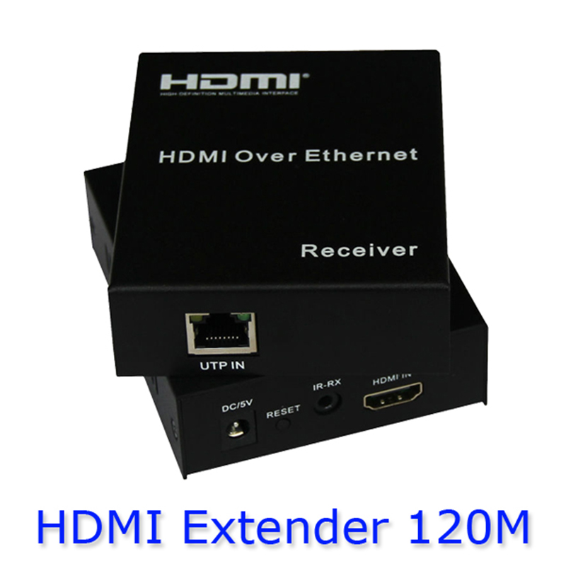 Kaycube HDMI Extender 1080P Over single CAT5E/6 up to 120M With IR Pass Bupports up to 120m with US/ EU power adapter HDES02 best price new usb utp extender adapter over single rj45 ethernet cat5e 6 cable up to 150ft