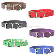 LDC009 Pu Leather Dogs Collar for Small Dog with Red Black Purple Navyblue Green